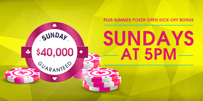 Sunday $40K Guaranteed Summer Borgata Poker Open Kick-Off Bonus
