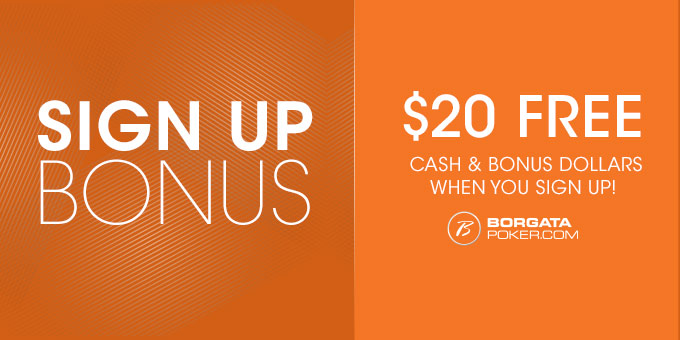 Free 20 dollars when you sign up to play Borgata Online Poker